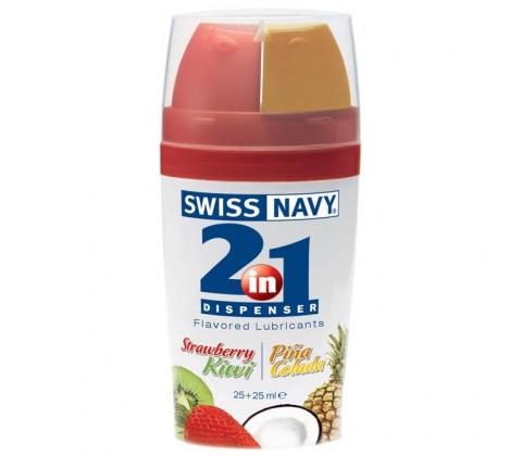 Swiss Navy 2-in-1 Strawberry Kiwi & Pina Colada Premium